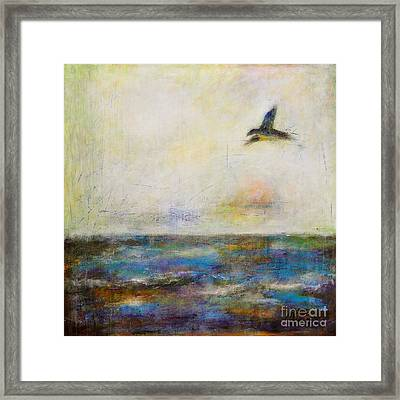 Summer Series The Fog Is Setting In Framed Print by Johane Amirault