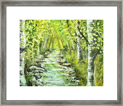 Framed Print featuring the painting Summer by Shana Rowe Jackson
