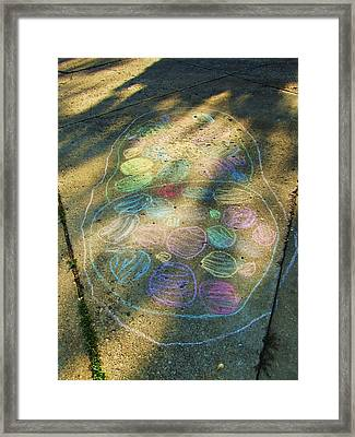 Summer Sidewalk Fun Framed Print by Todd Sherlock