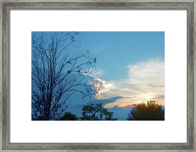 Summer Sky Framed Print by Juliana  Blessington
