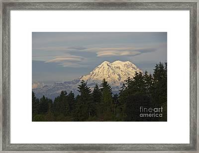 Summer Solstice - Mount Rainier Framed Print by Sean Griffin
