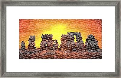 Summer Solstice At Stonehenge Framed Print