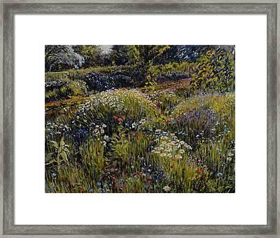 Framed Print featuring the painting Summer Splendor by Steve Spencer