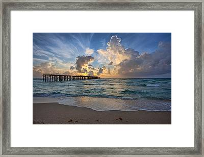 Summer Storm Framed Print by Claudia Domenig