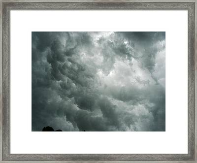 Summer Storm Clouds Framed Print by Marian Hebert
