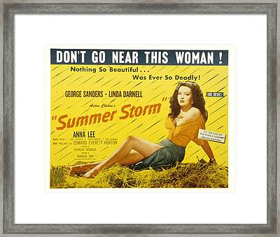 Summer Storm, Linda Darnell, 1944 Framed Print by Everett