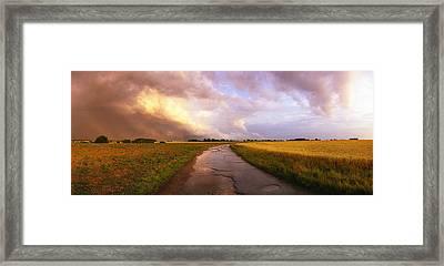 Summer Storm Raf Lavenham Framed Print by Jan W Faul