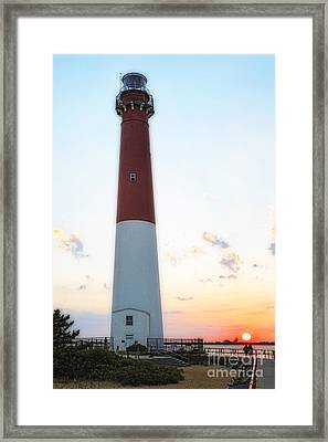 Summer Sunset At Old Barnie  Framed Print by George Oze