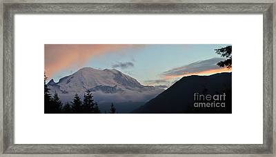 Summer Sunset On Mt. Rainier Framed Print