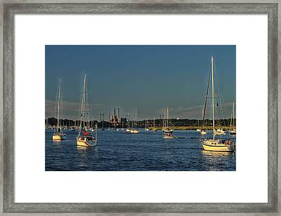 Summers Canal Framed Print by Karol Livote