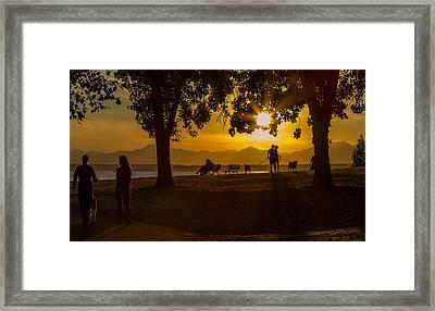Summer's Last Sunset Framed Print by Ken Stanback