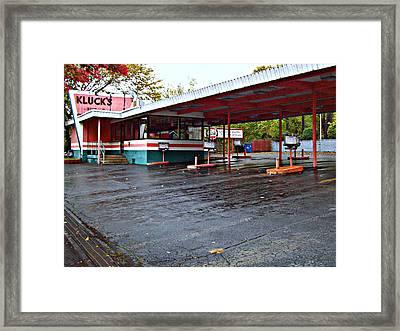Summer's Over Framed Print by MJ Olsen