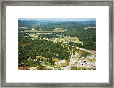 Summersville Us Route 19  Framed Print by Thomas R Fletcher