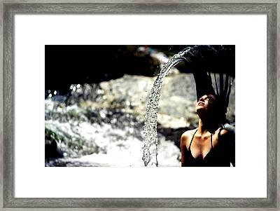 Summertime At The River Framed Print by Emanuel Tanjala