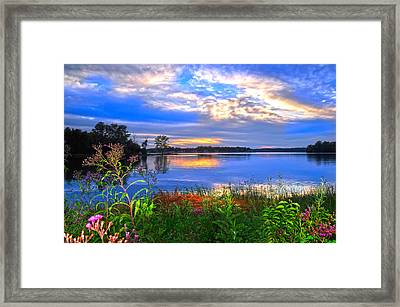 Framed Print featuring the photograph Summertime Walk Around Lake  by Randall Branham