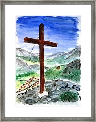 Summit Cross Framed Print