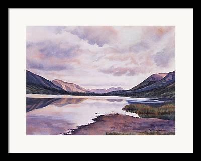 Alaska Lake Framed Prints