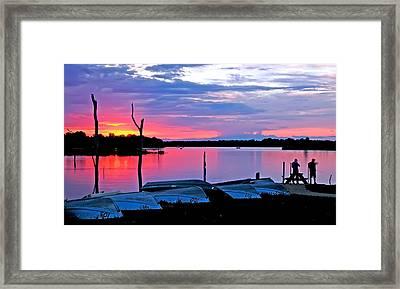 Summit Lake Henry County Framed Print