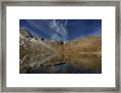 Framed Print featuring the photograph Summit Lake In September by Stephen  Johnson