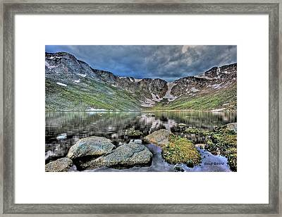 Framed Print featuring the photograph Summit Lake Tundra And Granite by Stephen  Johnson