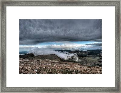 Framed Print featuring the photograph Summit View On Mount Evans by Stephen  Johnson