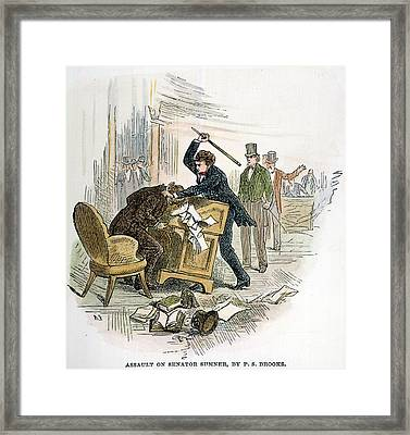 Sumner And Brooks, 1856 Framed Print by Granger