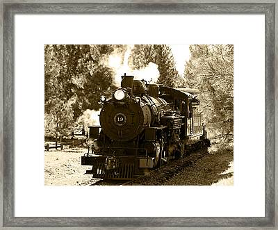 Sumpter Rr Engine 19 Framed Print by Nick Kloepping
