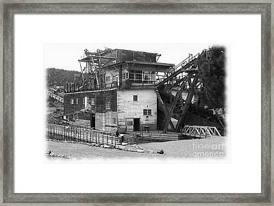 Sumpter Valley Gold Dredge Framed Print by Charles Robinson