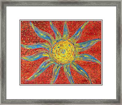 Sun Framed Print by Ankita Ghosh