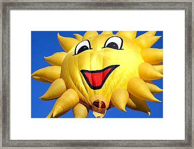 Sun Balloon Framed Print