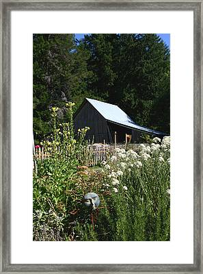 Framed Print featuring the photograph Sun Barn by Lorraine Devon Wilke