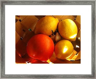 Sun Basket Framed Print