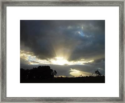 Sun Beams Framed Print by Paul Van Scott