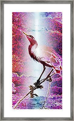 Framed Print featuring the mixed media Sun-bird by Hartmut Jager