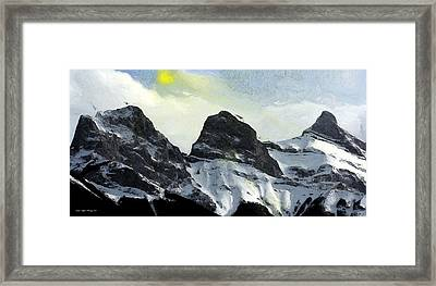 Sun Breaking Through Framed Print by Wayne Bonney