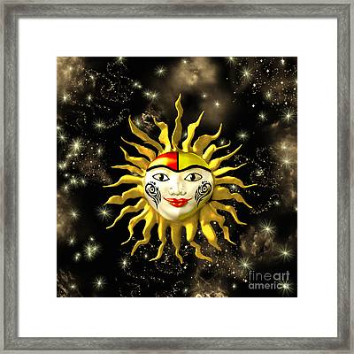 Sun Face  Framed Print by Methune Hively