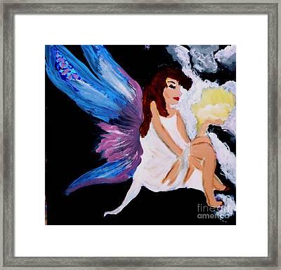 Sun Fairy Framed Print by Marie Bulger