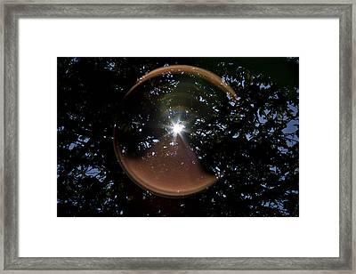 Framed Print featuring the photograph Sun Flair by Maj Seda