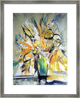 Sun Flower Day Framed Print
