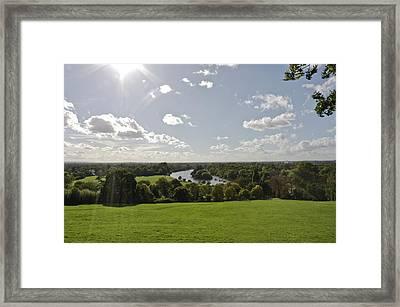 Framed Print featuring the photograph Sun Glare by Maj Seda