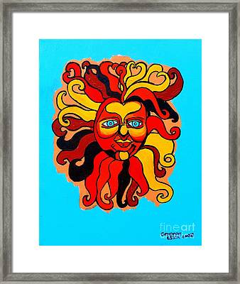 Sun God II Framed Print