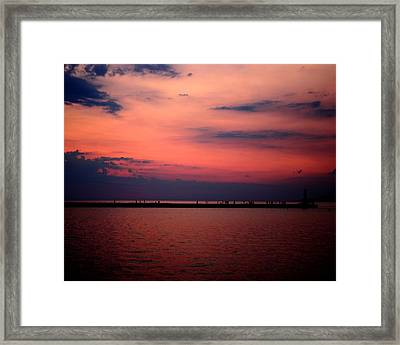 Sun Has Set Framed Print by Leigh Edwards