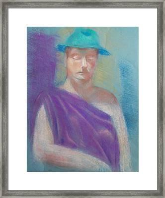 Sun Hat Framed Print by Joanna Gates