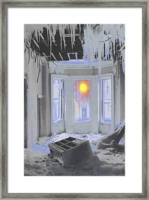 Framed Print featuring the photograph Global Freezing by Tom Wurl