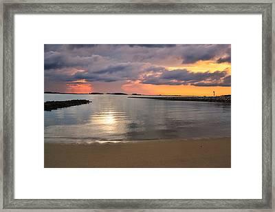 Sun In The Storm Framed Print