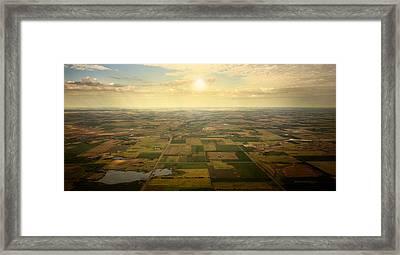 Sun On Horizon Framed Print by Patrick Ziegler