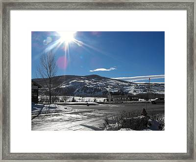Sun On Ice Framed Print by Adam Cornelison