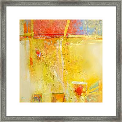 Sun On Wall Framed Print by Dale  Witherow
