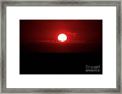 Sun Framed Print by Pravine Chester
