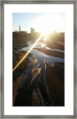 Sun Ray Framed Print by David Alvarez